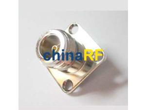 N Jack 4-hole panel mount connector with solder cup