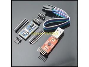 10pcs= 5PCS CP2102 Module +5PCS Pro Mini Module Atmega328 5V 16M For Arduino Com