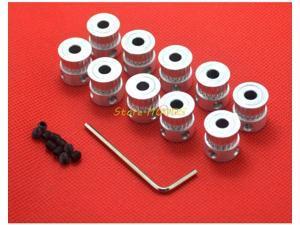 1pcs/lot GT2 Timing Pulley 20 teeth Alumium Bore 5mm for width 6mm belt Free shi