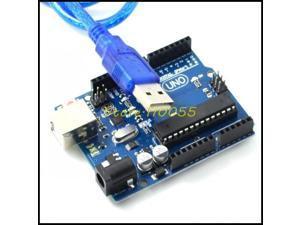 wholesale! 100set/lot UNO R3 UNO board with usb cable MEGA328P ATMEGA16U2 for Ar