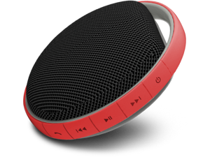 MiiKey Wireless MiiShower water proof Wireless Bluetooth Speaker with Microphone & built in Music player - Red