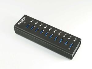 Aluminum USB 3.0 10 Port Hub