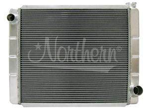"""Northern 209675 Race Pro Aluminum Radiator 19x26"""" GM All 1"""" Two Row Sngl P"""
