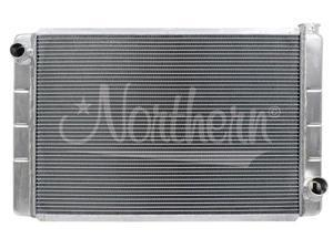 """Northern 209677 Race Pro Aluminum Radiator 19""""X31"""" GM All 1"""" Two Row Tubes"""