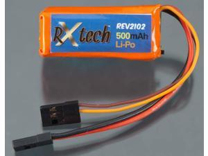 REV2102 LiPo 2S 7.4V 500mAh Receiver Pack TRIC2102 TRINITY