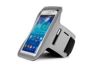 Gray Armband with Key Slot for Samsung Galaxy Mega 5.8