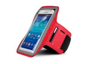 Red Armband with Key Slot for Samsung Galaxy Mega 5.8