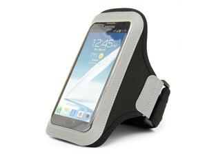 Black Premium Workout GYM Armband Pouch case for Samsung Galaxy Mega 6.3 / 5.8