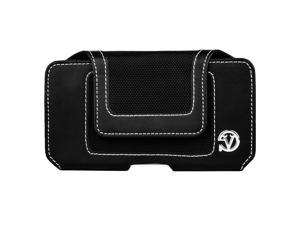 Nylon Velcro Series Executive Phone Pouch with Belt Clip fits BLU Studio X Plus