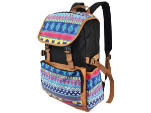 Cute Colorful Buckle Zip School Backpack /w Laptop compartment (Fits Toshiba laptops up to 15.6 inches)