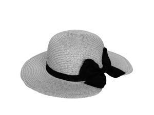Aerusi Miss Anderson Floppy Straw Sun Woman's Hat (Grey)