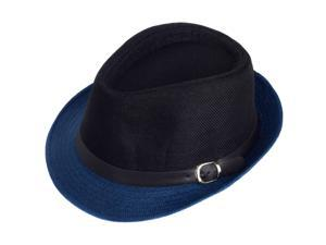 Aerusi Unisex Black Blue Fusion Straw Hat (One Size Fits Most)