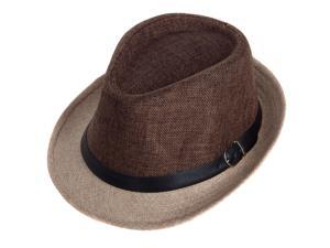 Aerusi Unisex Brown Fusion Straw Hat (One Size Fits Most)