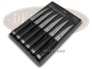 HEN & ROOSTER AND International 6 Piece Black Rubber Kitchen Steak Knives Set