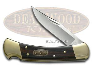 BUCK 110 50th Anniversary Diamond Wood Folding Hunter Stainless Pocket Knife