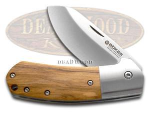 BOKER TREE BRAND Olive Wood Arctos 42 Liner Lock Stainless Pocket Knife Knives