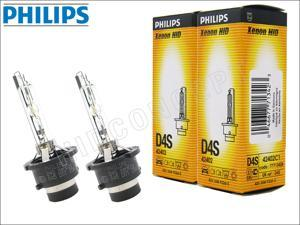 New! 2x PHILIPS 4300K OEM D4S HID BULBS MADE IN GERMANY #42402 35W DOT (Pack of 2)
