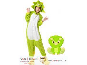 Fabulous Charming Triceratops Dinosaur Kigurumi Unisex Cosplay Animal Hoodie Pajamas Pyjamas Costume Outfit Sleepwear KK290