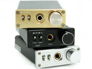SMSL sApII Pro TPA6120A2 HiFi Stereo Headphone Amplifier + Power Adapter Silver