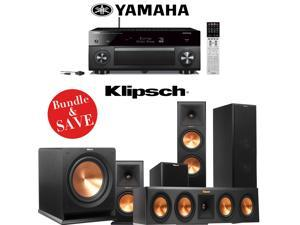 Yamaha AVENTAGE RX-A3050 9.2-Channel Network AV Receiver + A Klipsch RP-280F Reference Premiere 5.1 Home Theater Speaker Package (RP-280F, RP-440C, RP-160M & R-112SW)