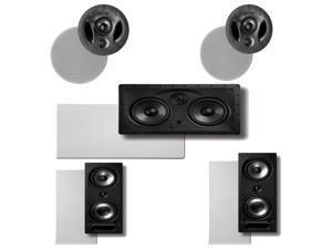 Polk Audio 900-LS High Performance In-Celing Speakers (Pair), Polk Audio 265-RT In-Wall Speakers (Pair) Plus A Polk Audio 255C-LS Center Channel Speaker
