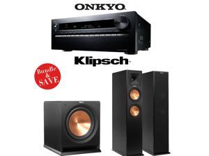 Onkyo TX-NR3030 11.2-Ch Dolby Atmos Ready Networking A/V Receiver + Klipsch RP-260F + Klipsch R-112SW - 2.1 Reference Premiere Bundle