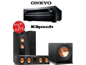 Onkyo TX-NR3030 11.2-Ch Dolby Atmos Ready Networking A/V Receiver + A Klipsch Reference Premiere 3.1 Home Theater Bundle (RP-260F + RP-440C + R-112SW)