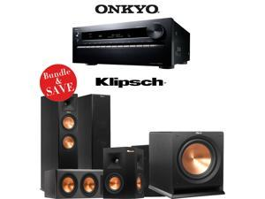 Onkyo TX-NR3030 11.2-Ch Dolby Atmos Ready Networking A/V Receiver + A Klipsch Reference Premiere 5.1 Home Theater Bundle (RP-260F + RP-440C + RP-240S + R-112SW)