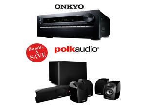 Onkyo TX-NR3030 11.2-Ch Networking A/V Receiver + A Polk Audio TL1600 5.1 Home Theater Speaker System - Bundle