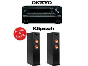 Onkyo TX-NR646 7.2-Channel Network A/V Home Theater Receiver + (1) Pair of Klipsch RP-250F Reference Premiere 5.25-Inch Floorstanding Loudspeakers - Bundle