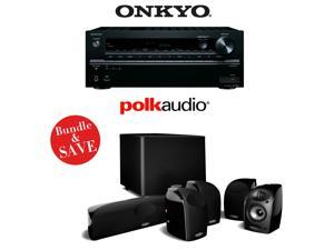 Onkyo TX-NR646 7.2-Channel Network A/V Home Theater Receiver + (1) Polk Audio TL1600 5.1 Home Theater Speaker System