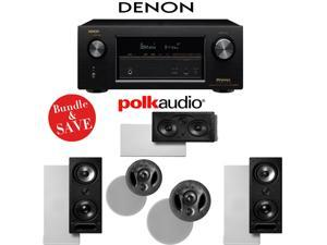 Denon AVR-X3200W 7.2-Channel Full 4K Ultra HD A/V Receiver + Polk Audio 265-LS + Polk Audio 900-LS + Polk Audio 255C-LS - In-Wall / In-Ceiling Bundle