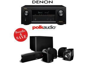 Denon AVR-X3200W 7.2-Channel Full 4K Ultra HD A/V Receiver + A Polk Audio TL1600 5.1 Home Theater Speaker Package