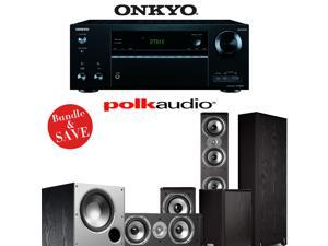 Onkyo TX-NR656 7.2 Channel Network A/V Receiver + Polk Audio TSi 500 + Polk Audio TSi 200 + Polk Audio CS10 + Polk Audio PSW108 - 5.1 Home Theater Package
