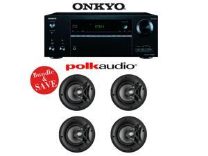 Onkyo TX-NR656 7.2 Channel Network A/V Receiver + (4) Polk Audio V60 High Performance In-Ceiling Loudspeakers - Bundle