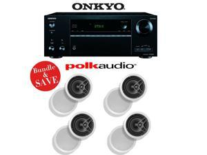 Onkyo TX-NR656 7.2 Channel Network A/V Receiver + (4) Polk Audio MC60 In-Ceiling Loudspeakers - Bundle