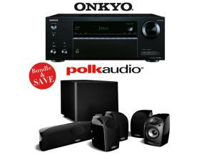 Onkyo TX-NR555 7.2-Channel Network A/V Receiver + Polk Audio TL1600 5.1 Home Theater Speaker Package