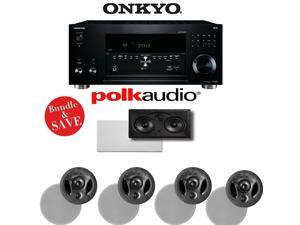 Onkyo TX-RZ810 7.2-Channel Network A/V Receiver + Polk Audio Vanishing Series 5.0 In-Wall / In-Ceiling Speaker System ( 900-LS + 255C-LS)