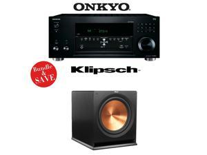 Onkyo TX-RZ810 7.2-Channel Network A/V Receiver + (1) Klipsch R-115SW Reference Premiere 15-Inch 800W Powered Subwoofer - Bundle