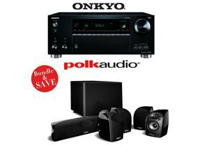 Onkyo TX-RZ710 7.2-Channel Network A/V Receiver + A Polk Audio TL1600 5.1 Home Theater Speaker Package