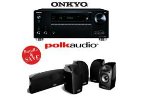 Onkyo TX-RZ710 7.2-Channel Network A/V Receiver + A Polk Audio TL250 5.0 Home Theater Speaker Package