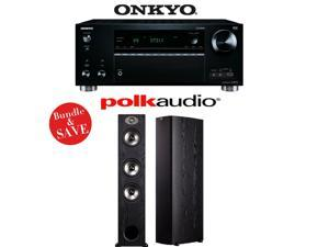 Onkyo TX-RZ710 7.2-Channel Network A/V Receiver + (1) Pair of Polk Audio TSx 440T Floorstanding Loudspeakers - Bundle