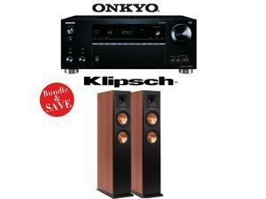 Onkyo TX-RZ710 7.2-Channel Network A/V Receiver + (1) Pair of Klipsch RP-250F Reference Premiere Floorstanding Loudspeakers (Cherry) - Bundle
