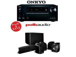 Onkyo TX-NR757 7.2-Channel Network A/V Receiver + A Polk Audio TL1600 5.1 Home Theater Speaker Package