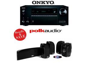 Onkyo TX-NR757 7.2-Channel Network A/V Receiver + A Polk Audio TL350 5.0 Home Theater Speaker Package