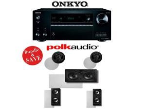 Onkyo TX-NR757 7.2-Channel Network A/V Receiver + Polk Audio 90-RT + Polk Audio 265-RT + Polk Audio 255C-RT - 5.0 Vanishing Series In-Wall / In-Ceiling Speaker Package