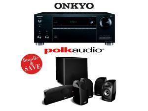 Onkyo TX-RZ610 7.2-Channel Network A/V Receiver + A Polk Audio TL1600 5.1 Home Theater Speaker Package