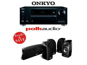 Onkyo TX-RZ610 7.2-Channel Network A/V Receiver + A Polk Audio TL250 5.0 Home Theater Speaker Package