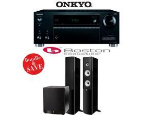 Onkyo TX-RZ610 7.2-Channel Network A/V Receiver + Boston Acoustics A 360 + Boston Acoustics ASW 650 - 2.1 Home Theater Package