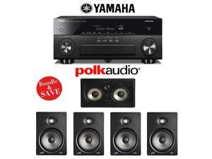 Yamaha AVENTAGE RX-A860BL 7.2 Channel Network AV Receiver + Polk Audio V85 5.0 High Performance In-Wall Home Speaker System